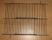 "2 x BLACK FINCH CAGE / CARRY CAGE FRONTS 10"" x 8"""